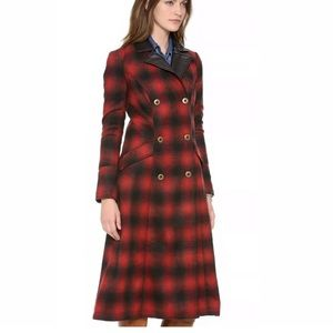 Free People Plaid Sergeant Trench Coat Duster